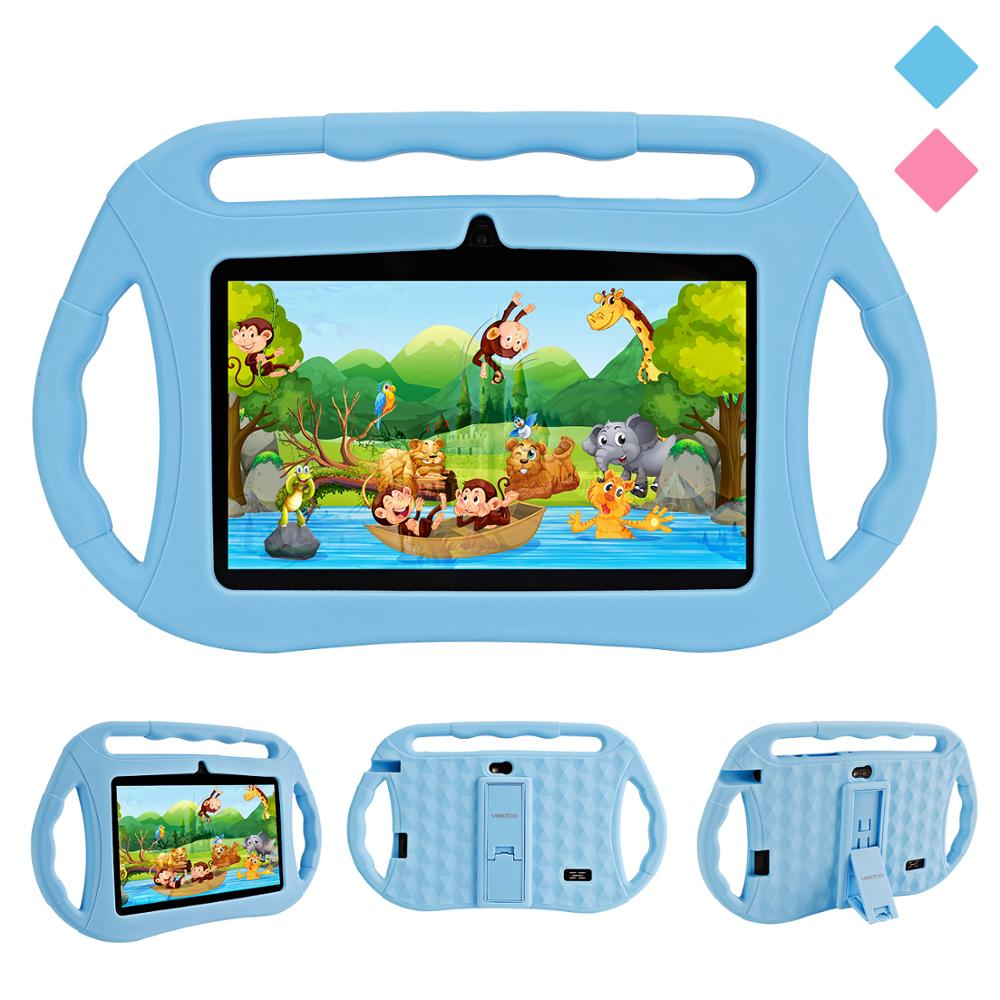 Veidoo 7 Inch Android Kids Tablet WiFi Dual Camera Childrens Tablet Pc 1GB + 16GB Google Play Store With Silicone Case