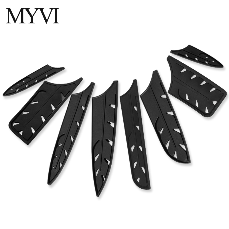 MYVI Knives Covers Kitchen Knife Sheath For 8'' Chef Slicing Bread 7'' Santoku Chopping Knives Black Plastic Knife Blade Guard|Blocks & Roll Bags| |  - title=