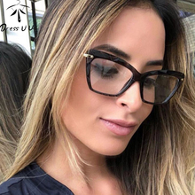 DRESSUUP Fashion Cat Eye Glasses Frames Women Trending Styles Brand Optical Computer