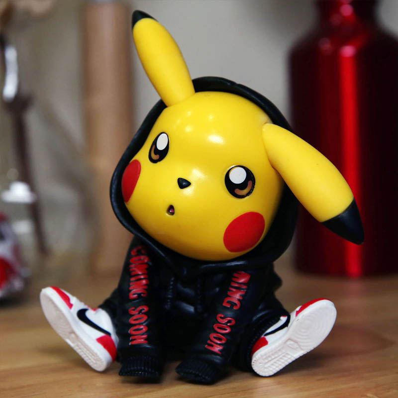 Pokemon Pokbaby Tide Bikachu Pet Elf Toy Handmade Model Creative Gift