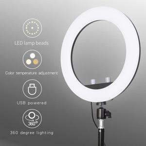 Image 5 - GSKAIWEN 10 w LED na żywo Selfie Studio makijaż uroda wideo ściemnialna lampa pierścieniowa ze statywem