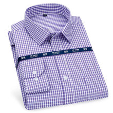 Dress Shirt Regular-Fit Long-Sleeve Striped Business Social Plaid Formal Smart Casual