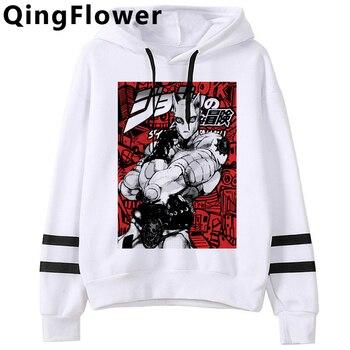 Cool Anime Jojo's Bizarre Adventure Harajuku Hoodies Men Unisex Funny Cartoon Fashion Casual Sweatshirt Graphic Hoody Male