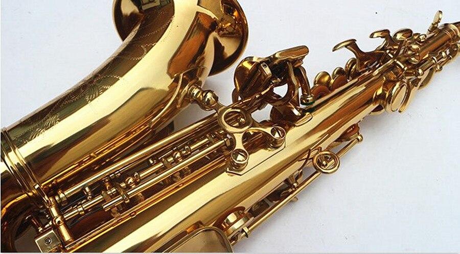 Сопрано саксофон том BB изогнутый сопрано sax из Bcreated музыкальный инструмент саксофон Sax для детей и чехол - 5
