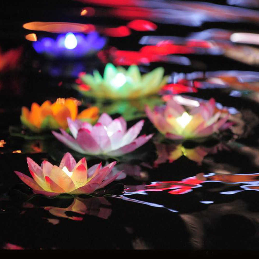 Light Pond Lantern Floating Led Festival Outdoor Solar Power Garden Decor