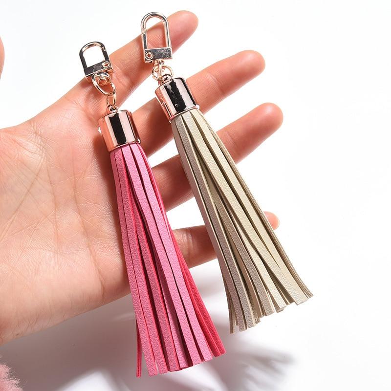 1 adet alaşım toka anahtarlık deri püskül kolye DIY el sanatları malzemeleri giysiler telefonu takı dekor Fringe çanta Trim aksesuarları