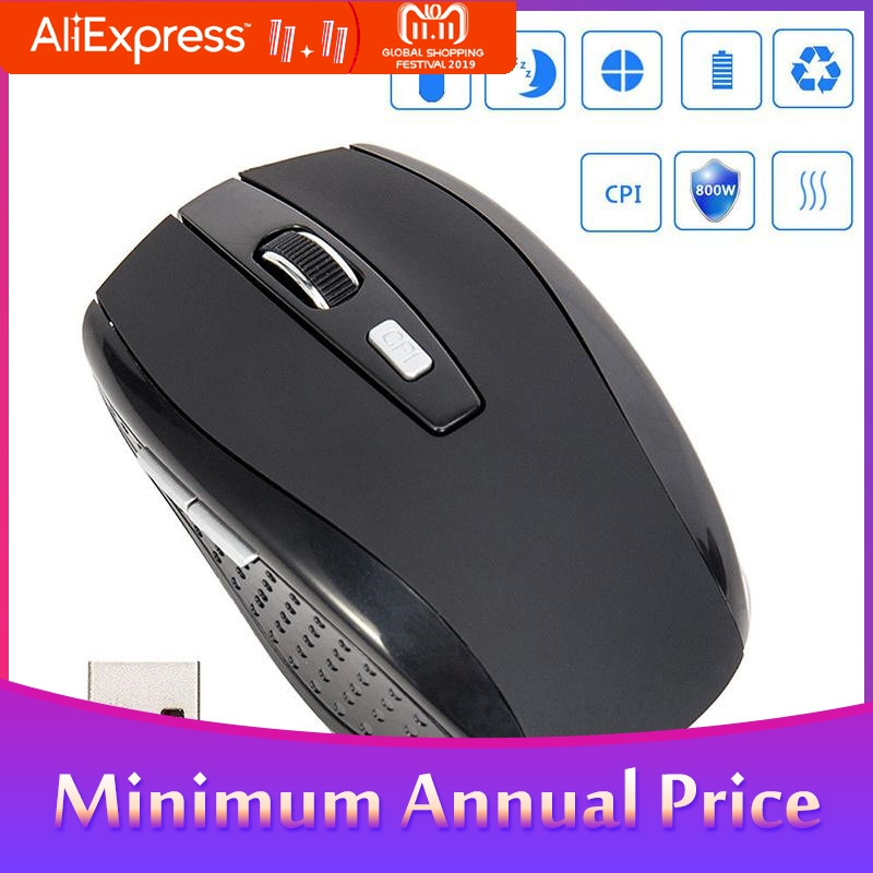 BEESCLOVER Wireless Mouse 2.4G Portable Wireless Mouse Cordless Optical Scroll Mouse For PC Laptop D25