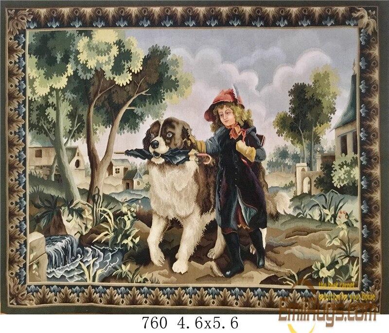 2014 apresurado tiempo limitado imagen de gobelino tapiz colgante de pared tapiz de lana pura hecho a mano - 4