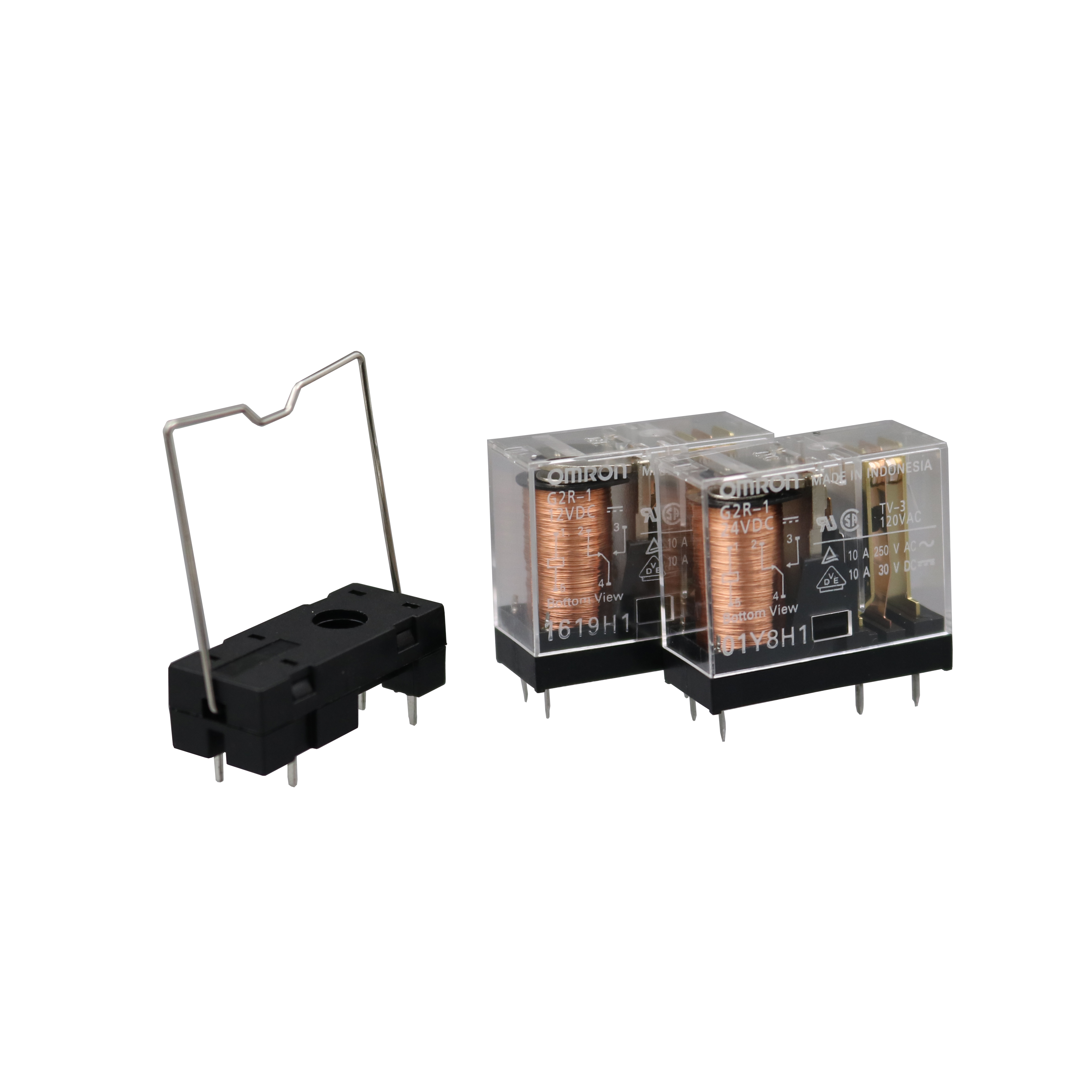 1pcs G2R-1A-E-24VDC G2R-1A-E-DC24 POWER RELAY 24VDC 16A SPST 6PIN Tranparent