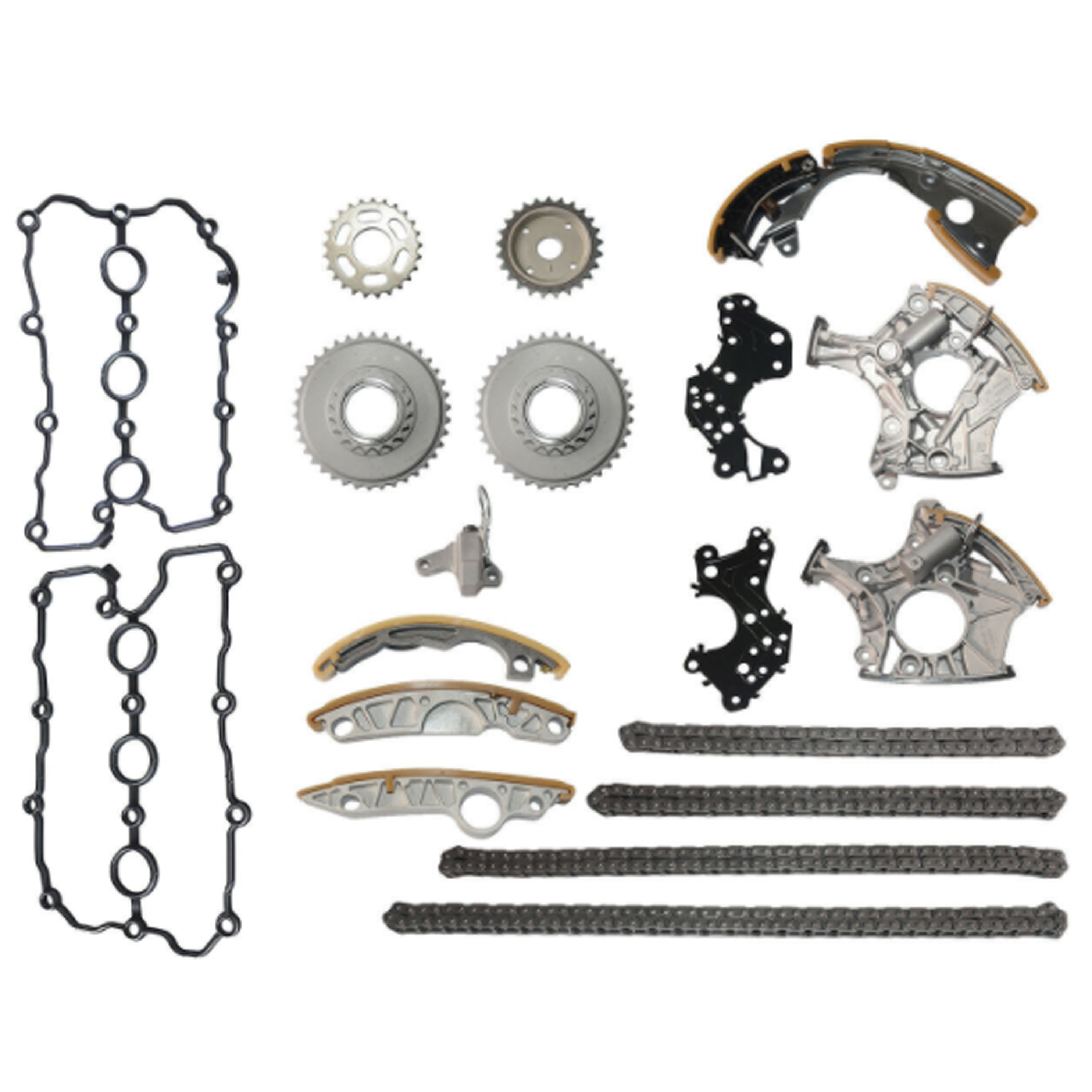 13 PCS For Audi A4 A6 2.4L V6 3.2L TIMING CHAIN GEAR KIT With CHAIN TERNSIONERS