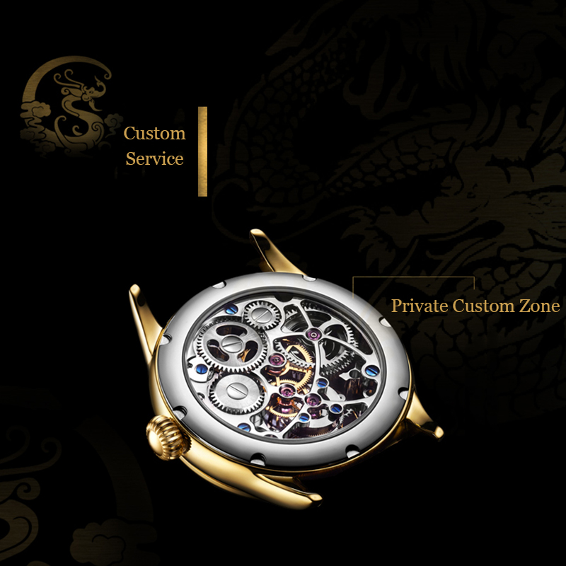 New GUANQIN Original Tourbillon watch men top brand luxury waterproof skeleton Sapphire Mechanical Tourbillon relogio masculino 3