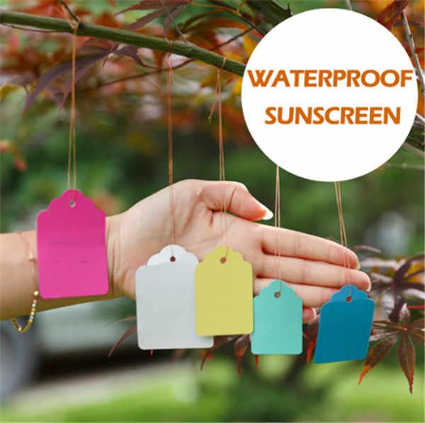 20 pçs à prova dwaterproof água linha de tira etiquetas de jardinagem sinais de árvore de jardinagem planta pendurar tags jardim etiquetas de flores marcadores de plantas