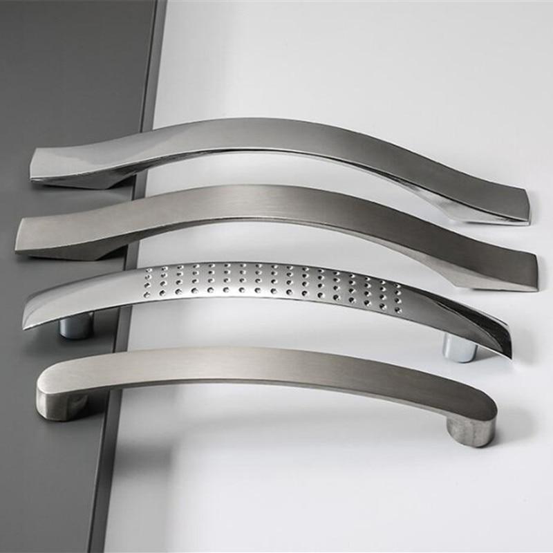 Simple Door Drawer Pull Handle Black Fashion Wardrobe Cabinet Furniture Knob 1pc