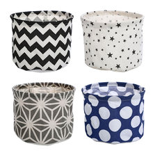 Small Number Cotton and Linen Storage Basket Sundries Finishing Storage Bucket Bread Basket Waterproof Fabric Bucket 1059 american country style big size american flag foldable sundries storage bucket cotton and linen laundry bucket