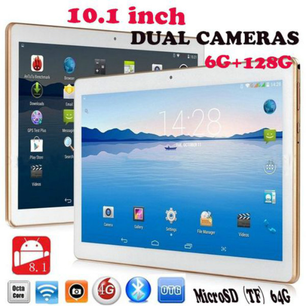 2020 HOT Cheap 10.1 Inch Tablet PC Android 8.0 10 Core 6GB RAM 128GB ROM 5.0MP Bluetooth Wifi 4G LTE IPS 1280*800 Phone Tablet