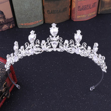 Princess Crown Wedding Tiara for Bride Diadem for Girls Bridal Hair Accessories Crystal Headband Stylish Ornaments Jewelry red crystal wedding crown queen tiara bride crown headband bridal accessories diadem mariage hair jewelry ornaments