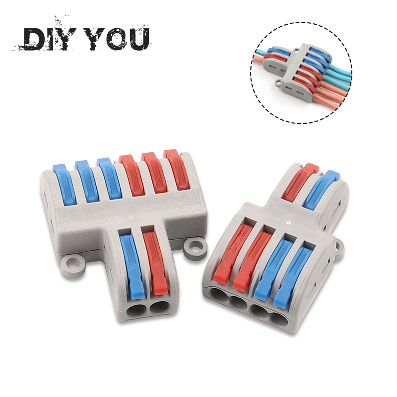 5/10pcs/Lot SPL-42/62 Mini Fast Wire Connector Universal Wiring Cable Connector Push-in Conductor Terminal Block DIY YOU