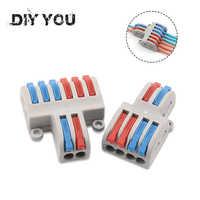 5/10 unids/lote SPL-42/62 Mini conector de Cable rápido conector de Cable de Cableado Universal bloque de Terminal de Conductor Push-in DIY usted