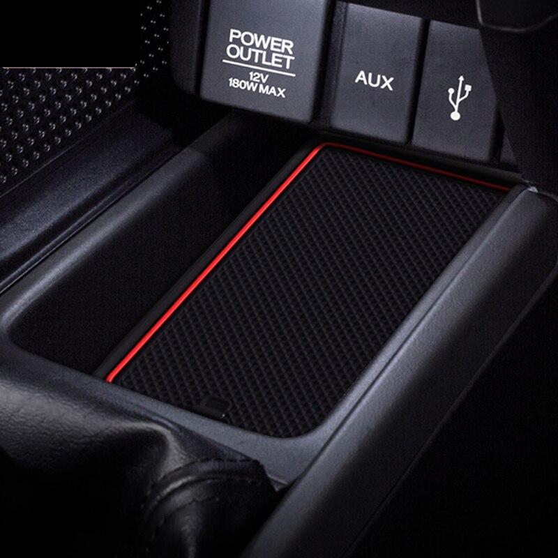 Door Groove Mat For HONDA S660 Anti-Slip Mat Gate Slot Coaster Anti-Dirty Mat  Car Interiors Gel Pad Rubber Mat