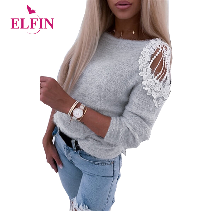 Hollow Out Lace Patchwork Women Blouses And Tops Casual O-neck Long Sleeve Shirt Ladies Korean Clothes 2020 SJ4894R