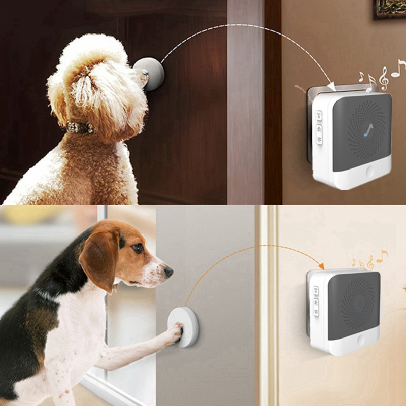 Dog Doorbell Standard Pet Doorbells Wireless Touch Button Dogs Training Doorbells Paw Bell Family Pet Dog Training Bells Hot-2