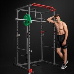 Profesional Squat Rack marco Multi-funcional banco de hogar Stand Barbell Stand Fitness equipo de entrenamiento integral