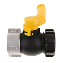 IBC Water Tank Valve Connector 75mm to 55mm, Barrels Fitting Parts- Tote Adapters for Garden Hose-Yellow(China)