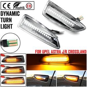 Image 1 - 2PCS Dynamic LED Side Marker Lights 12V Flowing Turn Signal Light Side Repeater Lamp Panel Lamp for Opel for Vauxhall Astra J K