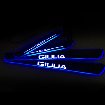 LED Door Sill Streamed Light For ALFA ROMEO GIULIA 952 2015-2020 Scuff Plate Acrylic Door Sills Car Sticker Accessories led door sill moving for bmw 3 touring e46 e91 2004 2012 scuff plate acrylic door sills car welcome light sticker accessories
