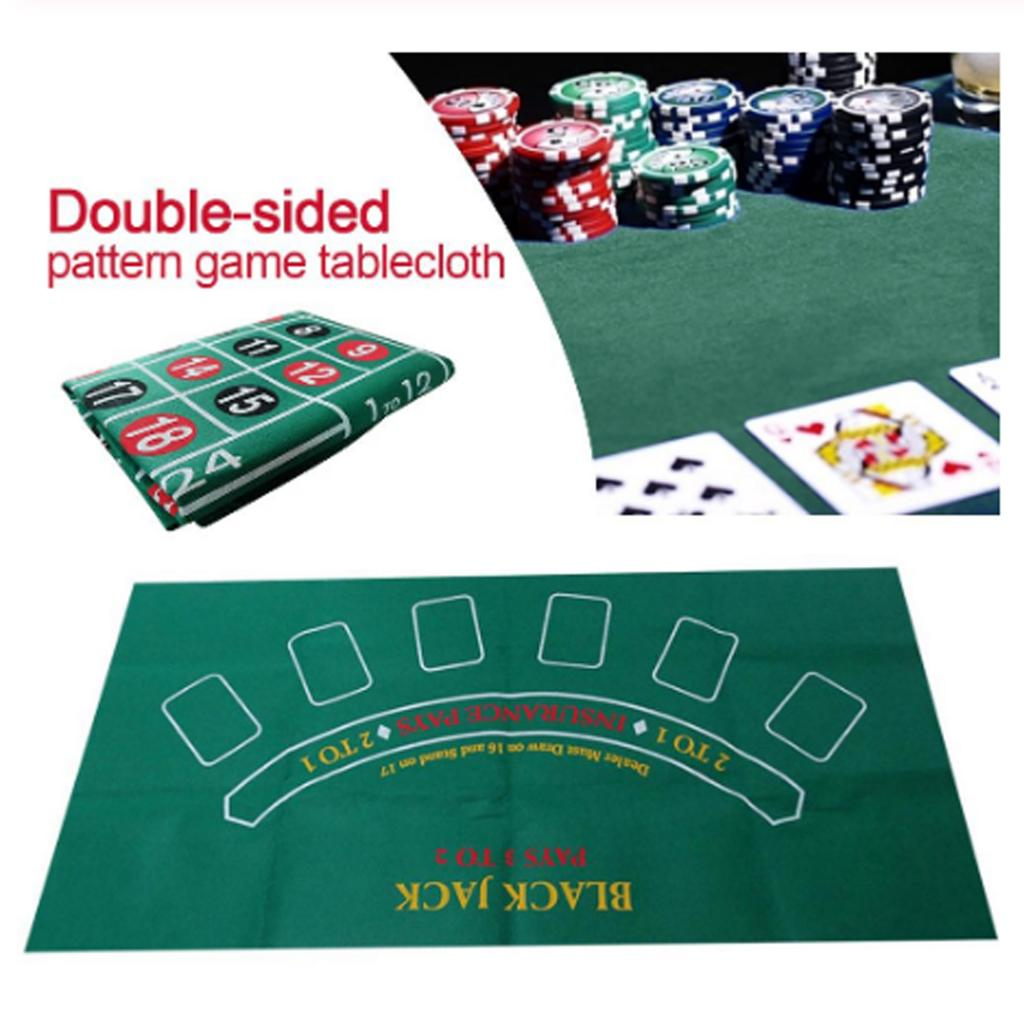 24' X 47' Double-sided Cover Felt Top Cloth Mat Roulette Casino Playing Table Top Felt Tablecloth Gambilng Tables Accessories