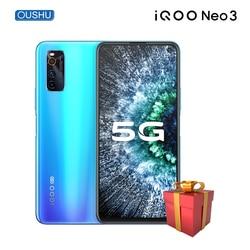 Vivo IQOO neo 3 Snapdragon 865 смартфон 8 Гб 128 ГБ 44 Вт Dash зарядка NFC 144 Гц гоночный экран 5G распознавание лица игровой телефон