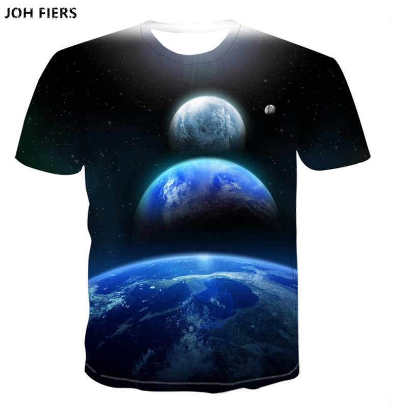 2019 Summer Style Men T Shirt 3D print Star Galaxy Universe Space Printing Clothes for Men Short Sleeved Top Tees T-shirt  6XL