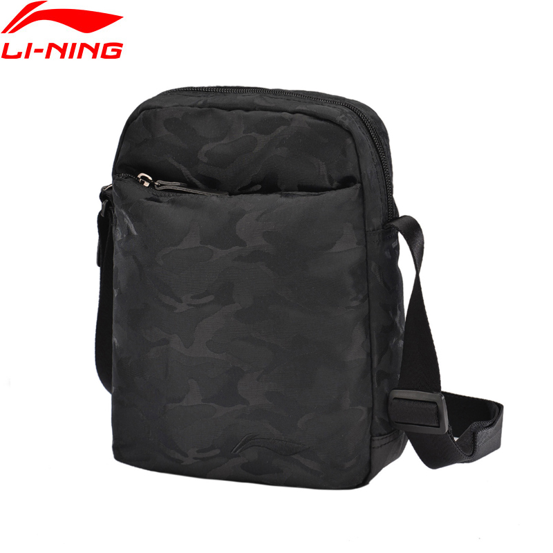 Li-Ning Men's Urban Sport Shoulder Bag Polyester Leisure LiNing Li Ning Sports Bags ABDM005 BJF117
