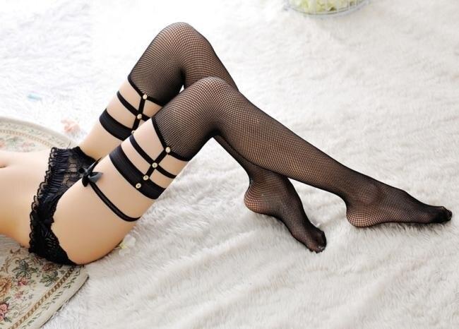 Sexy Stockings Women Fashion Rivet Lace Thigh High Stockings Knee Socks Women Meia Sexy Collant Femme