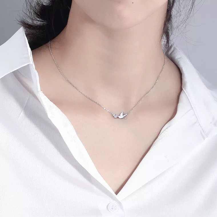 Punk Vintage 925 argent Sterling hirondelle colliers pendentifs pour femmes cadeaux déclaration colliers Colar 2019