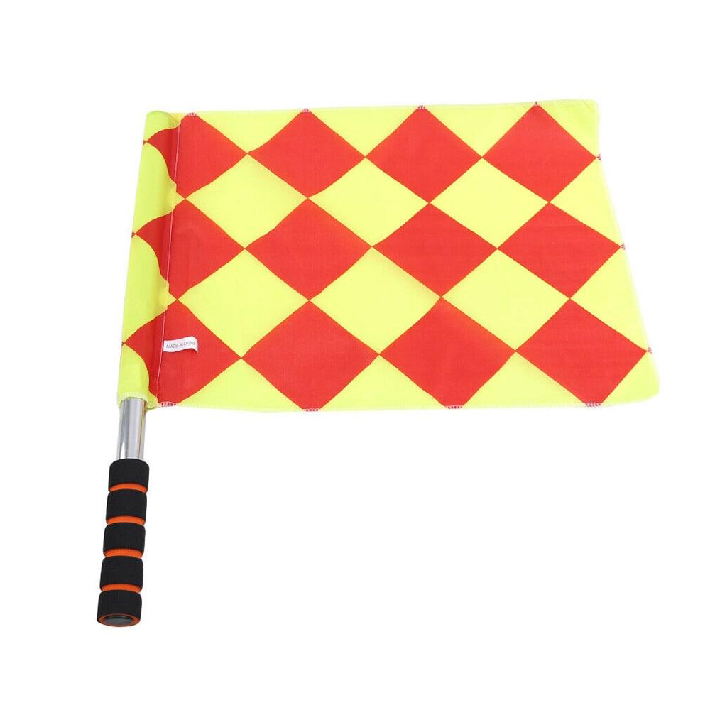 2pcs Referee Soccer Flag Soccer Ball Fair Play Sports Match Football Linesman Flags Sports Tools Training Equipment