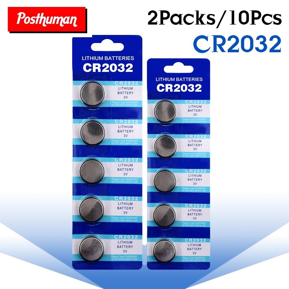 POSTHUMAN Great Power Button Cell Coin Battery For Watch 10pcs CR2032 Battery 10PCS CR2032 DL2032 CR 2032 KCR2032 5004LC ECR2032