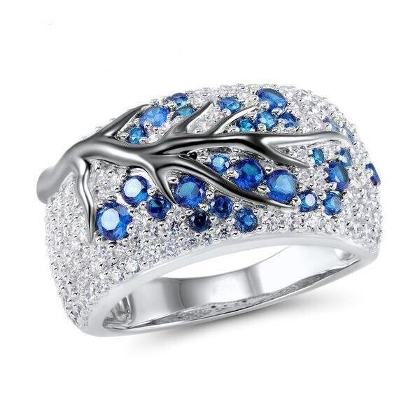 Новинка, кольца из розового золота для женщин, полностью Кристальное обручальное кольцо из Стразы для дам, Женские аксессуары, кольца на палец, ювелирное изделие, подарок - Цвет основного камня: 21
