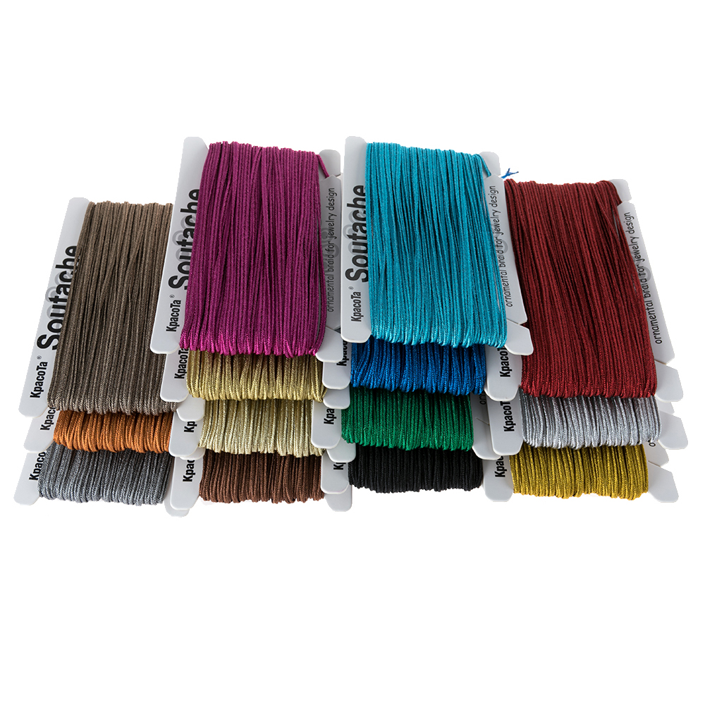 2020 Metallic Colors Braided Soutach 31 Meters Ethnic Snake Belly Cord DIY Jewelry Making Findings Braided Accessories Material