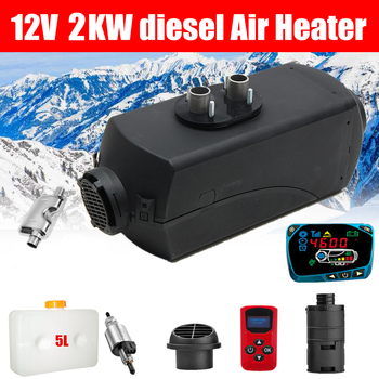 12V 2KW Car Diesels Air Parking Heater Car Heater LCD Monitor Switch + English Remote Control for Trucks Bus Trailer Heater