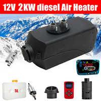 12V 2KW voiture Diesels Air Parking chauffage voiture chauffage LCD moniteur commutateur + anglais télécommande pour camions Bus remorque chauffage