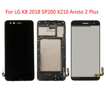100% Tested High quality For LG K8 2018 SP200 X210 Aristo 2 Plus LCD Display Touch Screen Digitizer Assembly Black,No/With Frame 100% tested high quality for lg q8 h970 v20 mini 5 2 lcd display touch screen digitizer assembly black with no frame