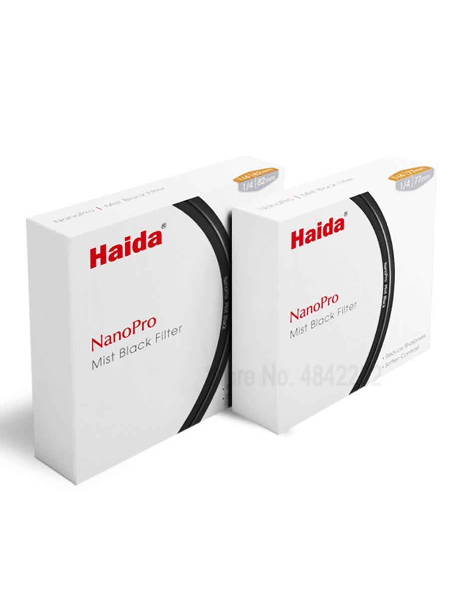 Vidro óptico nano pro mc preto névoa 1/4 filtro de lente 52/58/62/67/72/77/82mm câmera de vídeo retrato nebuloso foco macio