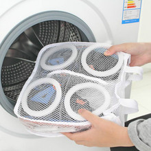 Mesh Shoes Laundry Bags for Washing Machines Net for Shoes Underwear Bra Organizer Bag Hanging Dry Portable Washing Bags mesh laundry shoes bags laundry net shoes organizer bag for shoe hanging dry shoe home organizer portable washing bags
