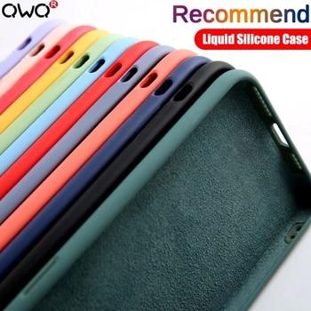 Original Liquid Silicone Phone Case For Huawei P30 P20 P40 Mate 20 30 Honor 20 Lite Pro P Smart 2019 Luxury Soft Protector Cover 1