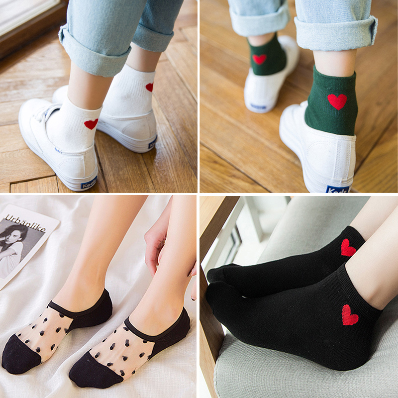 6pcs 3pair Women Socks Casual Soft Cotton Low Cut Ankle Socks Spring Autumn Winter Basic Funny Female Socks Short Ladies Sox