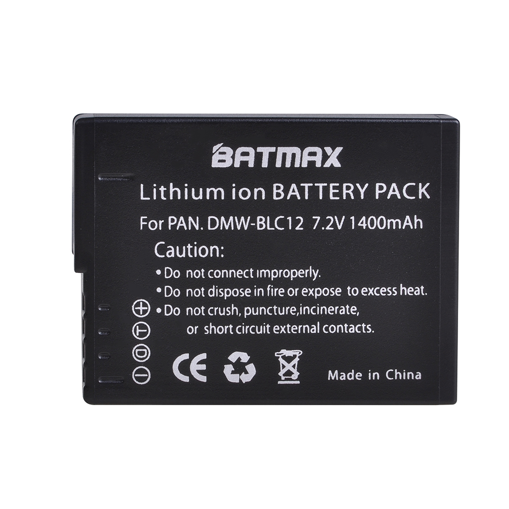 High-Capacity  DMW-BLC12 DMW BLC12e DMWBLC12 BLC12 Battery For Panasonic FZ1000, FZ200, FZ300, G5, G6, G7,GH2,DMC-GX8