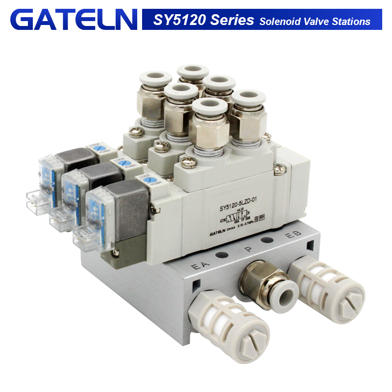 SMC type SY5120 Solenoid valve combination Single electronically controlled cylinder control valve SY5120-5LZD-01 SY5120-6LZD-01