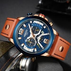Image 2 - NIBOSI 新しい腕時計メンズブランド腕時計男性用のクォーツ時計男カジュアル軍事防水腕時計レロジオ Masculino