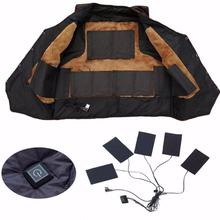 1 Set USB chaqueta con calefacción eléctrica almohadilla térmica exterior Themal cálido invierno chaleco almohadillas para DIY calefacción ropa 3/5/8 hoja ED